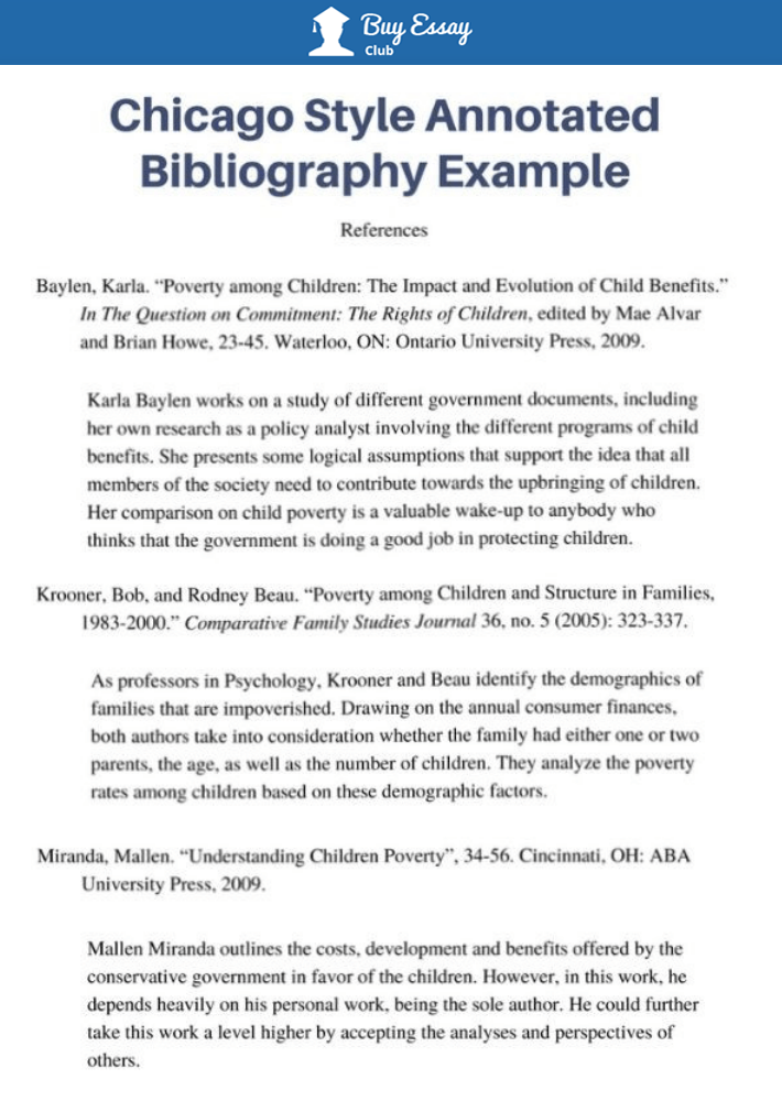 Buy annotated bibliography