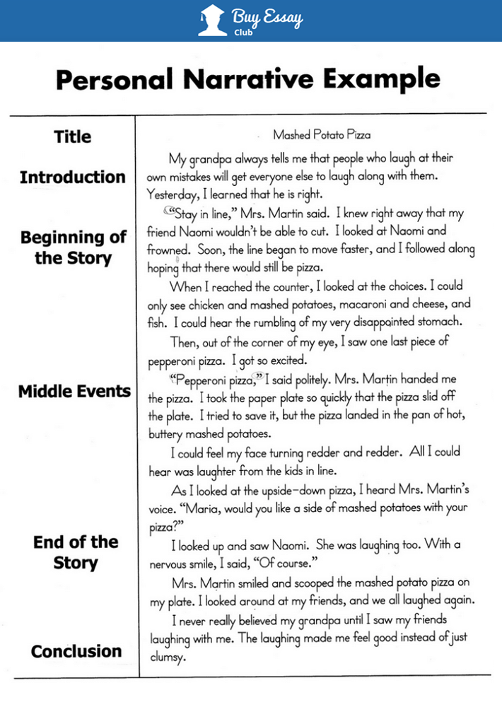 An example of narrative essay