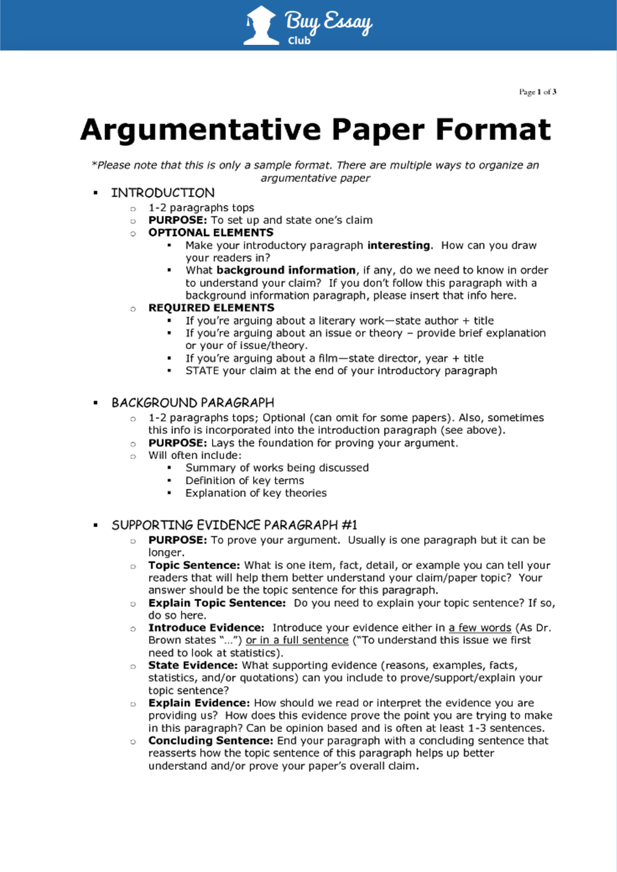 Where to purchase a completed argument essay