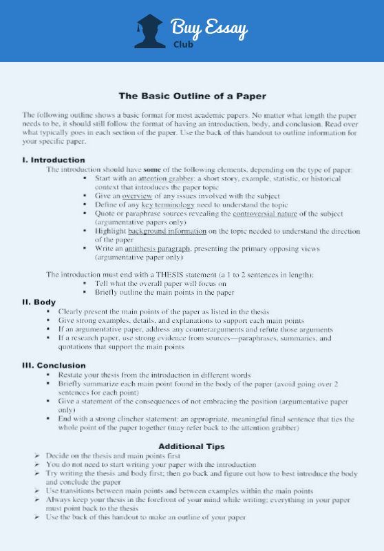 basic essay proposal outline