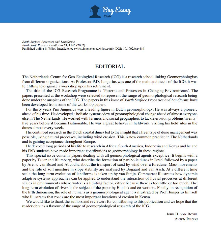 editorial example