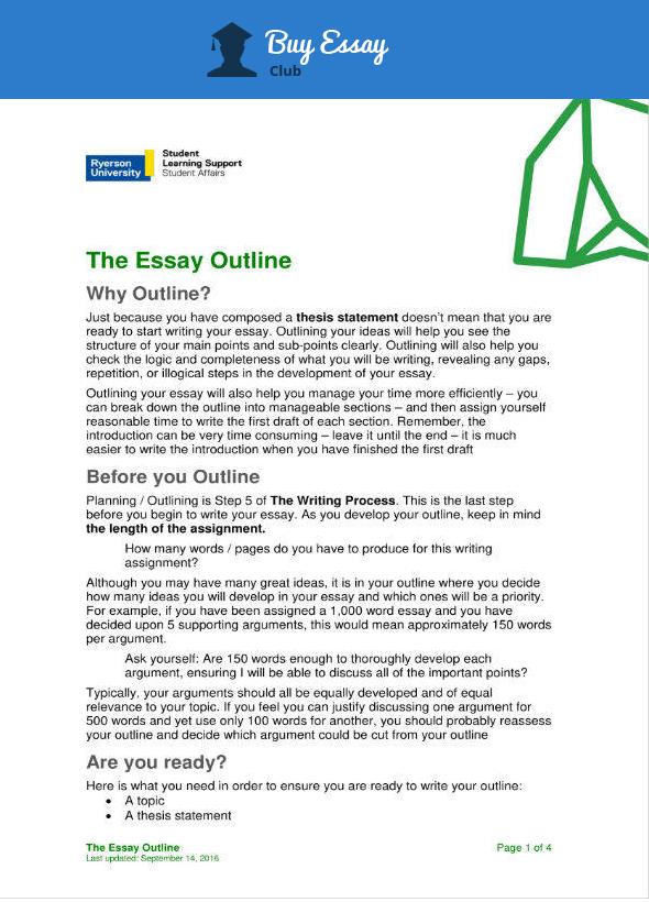 sample essay proposal outline